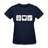 Women's T-Shirts ~ Women's T-Shirt ~ Peace Love Spirit
