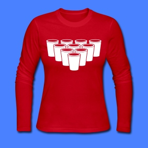 Beer Pong Cups - stayflyclothing.com Long Sleeve S - Women's Long Sleeve Jersey T-Shirt