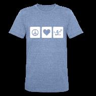 T-Shirts ~ Unisex Tri-Blend T-Shirt ~ Peace Love Spirit