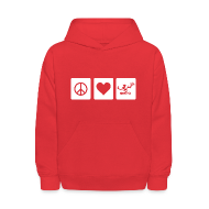 Sweatshirts ~ Kids' Hoodie ~ Peace Love Spirit