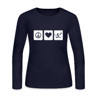 Long Sleeve Shirts ~ Women's Long Sleeve Jersey T-Shirt ~ Peace Love Spirit