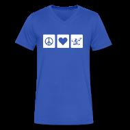 T-Shirts ~ Men's V-Neck T-Shirt by Canvas ~ Peace Love Spirit