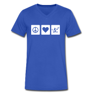T-Shirts ~ Men's V-Neck T-Shirt by Canvas ~ Peace Love Spirit