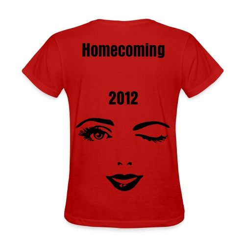 Women's T-Shirt - winky face,suit up,Homecoming,2012