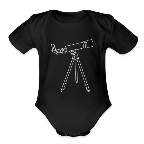 TELESCOPE - Organic Short Sleeve Baby Bodysuit