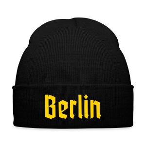 BERLIN Fracture Font - Knit Cap with Cuff Print