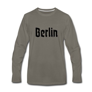 BERLIN Fracture Font - Men's Premium Long Sleeve T-Shirt