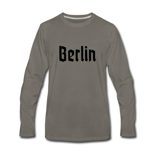 BERLIN Fracture Font - Men's Premium Long Sleeve T-Shirt