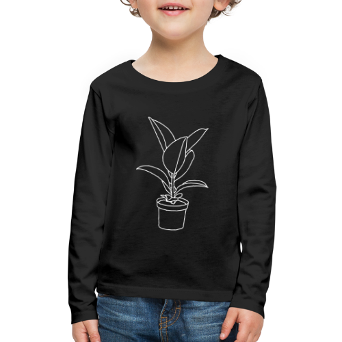 Rubber tree / Houseplant - Kids' Premium Long Sleeve T-Shirt