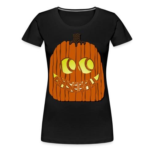 Baseball-o-Lantern - Women's Premium T-Shirt