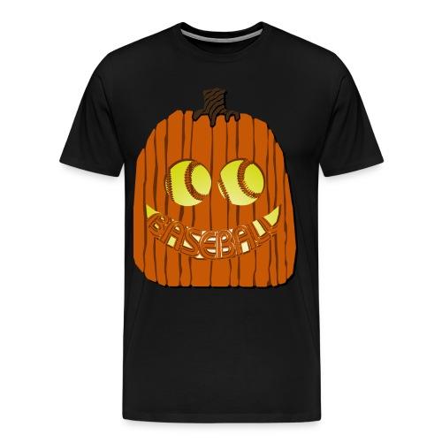 Baseball-o-Lantern - Men's Premium T-Shirt
