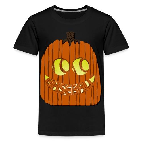 Baseball-o-Lantern - Kids' Premium T-Shirt