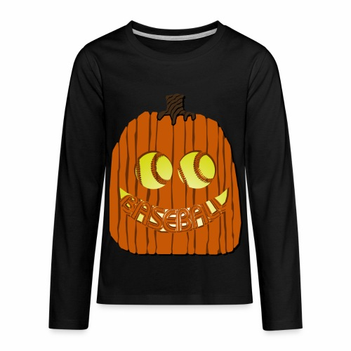 Baseball-o-Lantern - Kids' Premium Long Sleeve T-Shirt