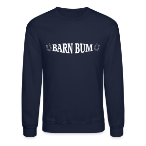 Barn Bum with horseshoe sides  - Crewneck Sweatshirt