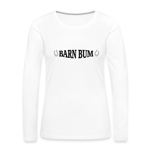 Barn Bum with horseshoes sides.  - Women's Premium Long Sleeve T-Shirt