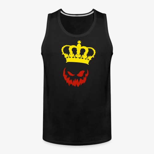 DeadlyPsyko's Pumpkin King Smile Tank Top - Men's Premium Tank