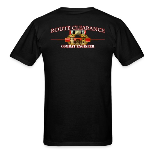 OIF Route Clearance w/Front Sapper Tab - Men's T-Shirt