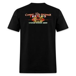 OEF & OIF Combat 12B w/Front Sapper Tab - Men's T-Shirt