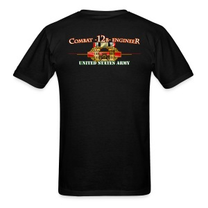 OIF Combat 12B w/Front Sapper Tab - Men's T-Shirt