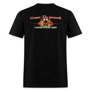 OEF Combat 12B w/Front Sapper Tab - Men's T-Shirt
