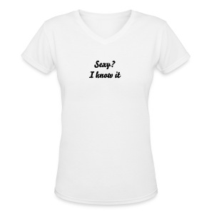 Sexy?  - Women's V-Neck T-Shirt