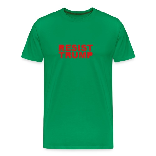 * RESIST TRUMP : solid *  - Men's Premium T-Shirt