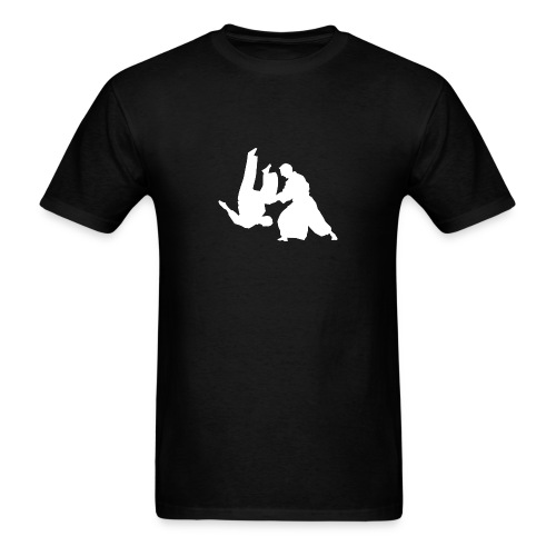 2017 Aikido Mugenjuku Kyoto - WHITE LETTERS - Men's T-Shirt