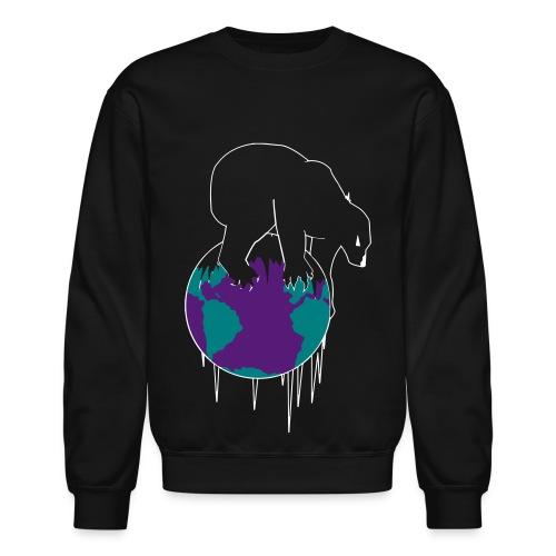 Unisex Polar World Crewneck [Black] - Crewneck Sweatshirt
