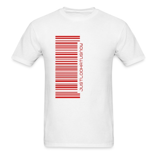 Barcode Tee - White/Red - Men's T-Shirt