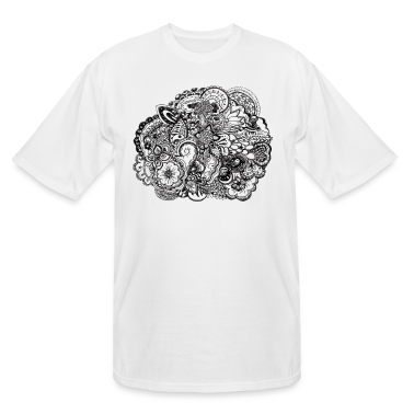 Black and white pen and ink doodle T-Shirts
