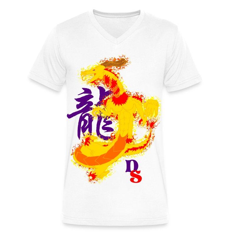 Dragon Zodiac: Mystical - Men's V-Neck T-Shirt by Canvas