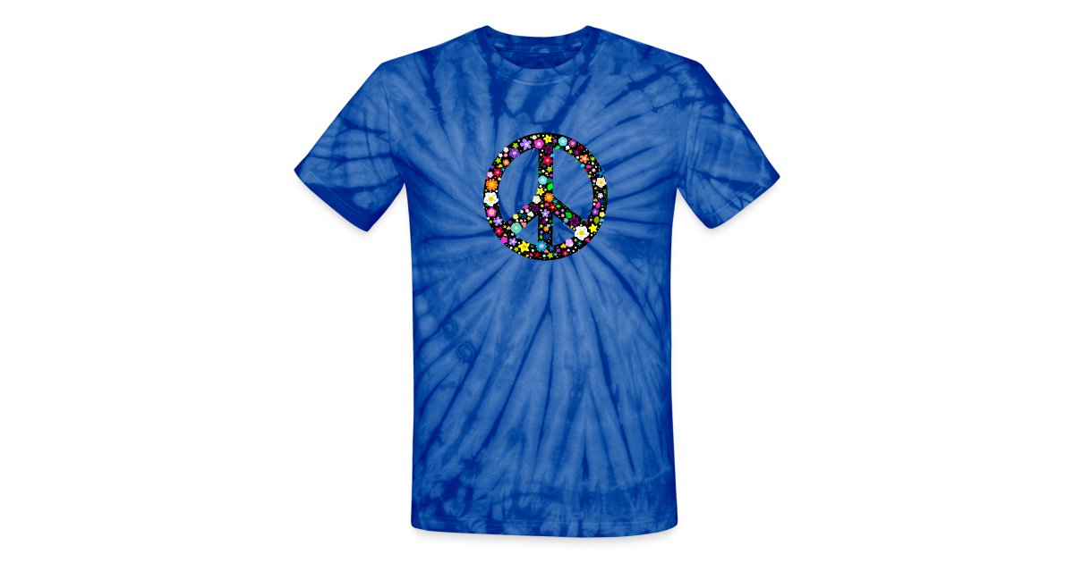 fced44e5dd9a Inspirationz Store on Spreadshirt.com | Floral Peace Sign - Unisex ...