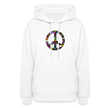 Floral Peace Sign Hoodies