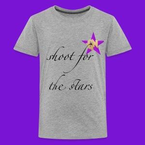 shoot for the stars t-shirt kids - Kids' Premium T-Shirt