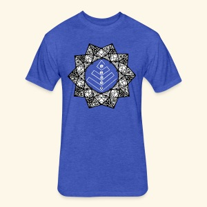 RISE CHAKRA Mens Tee - Fitted Cotton/Poly T-Shirt by Next Level