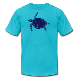 animal t-shirt sea turtle scuba diving diver marine endangered species - Men's T-Shirt by American Apparel