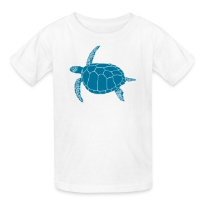 animal t-shirt sea turtle scuba diving diver marine endangered species - Kids' T-Shirt