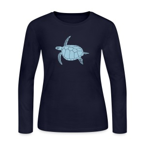 animal t-shirt sea turtle scuba diving diver marine endangered species - Women's Long Sleeve Jersey T-Shirt