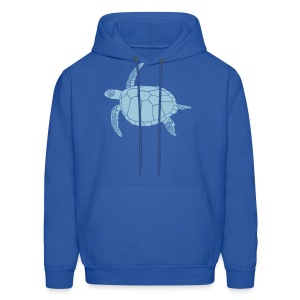 animal t-shirt sea turtle scuba diving diver marine endangered species - Men's Hoodie