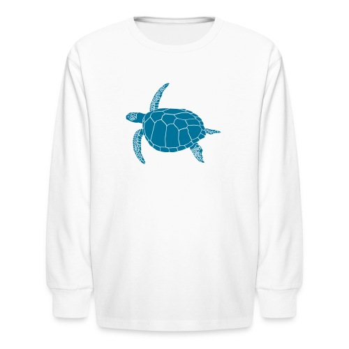 animal t-shirt sea turtle scuba diving diver marine endangered species - Kids' Long Sleeve T-Shirt