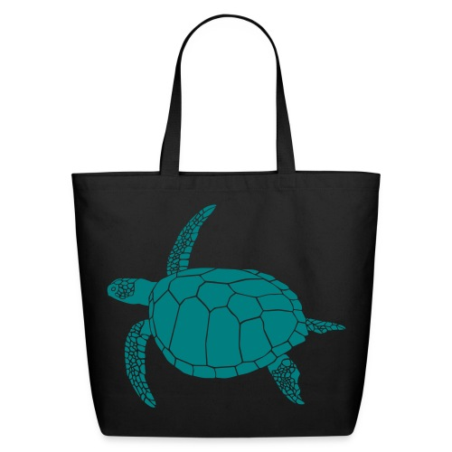 animal t-shirt sea turtle scuba diving diver marine endangered species - Eco-Friendly Cotton Tote