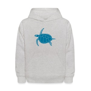 animal t-shirt sea turtle scuba diving diver marine endangered species - Kids' Hoodie