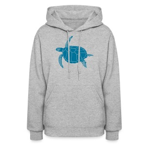 animal t-shirt sea turtle scuba diving diver marine endangered species - Women's Hoodie