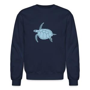 animal t-shirt sea turtle scuba diving diver marine endangered species - Crewneck Sweatshirt