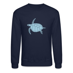 animal t-shirt sea turtle scuba diving diver marine endangered species - Crewneck Sweatshirt
