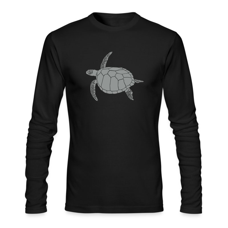 animal t-shirt sea turtle scuba diving diver marine endangered species - Men's Long Sleeve T-Shirt by Next Level