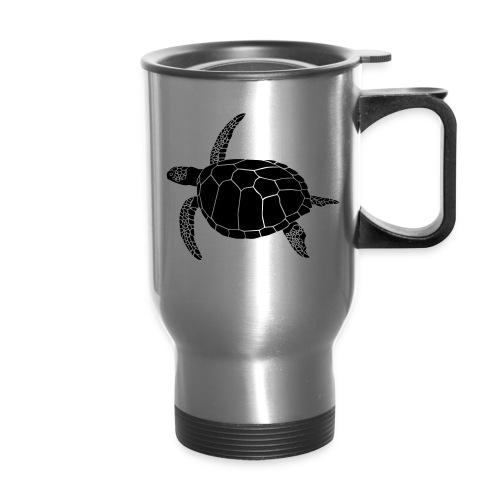 animal t-shirt sea turtle scuba diving diver marine endangered species - Travel Mug