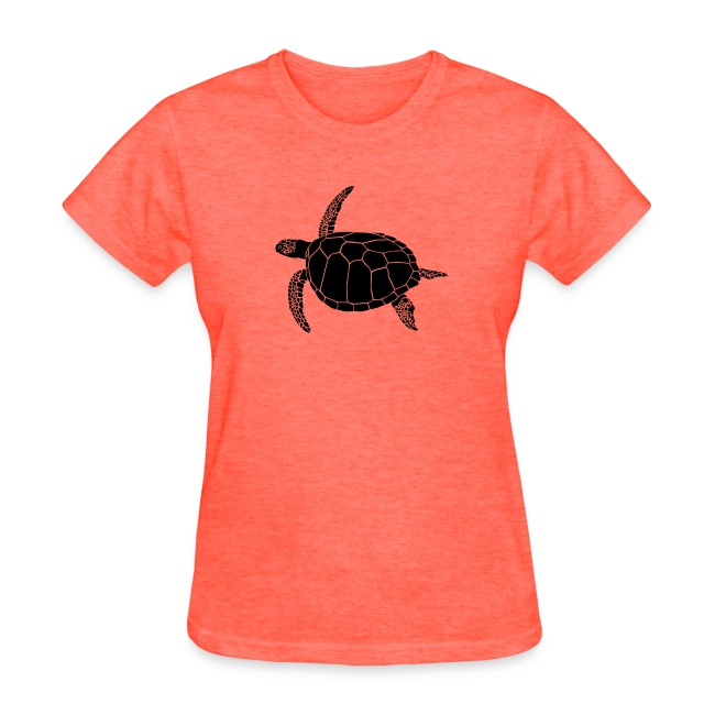 animal t-shirt sea turtle scuba diving diver marine endangered species