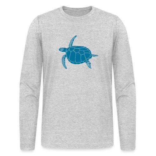 animal t-shirt sea turtle scuba diving diver marine endangered species - Men's Long Sleeve T-Shirt by Next Level