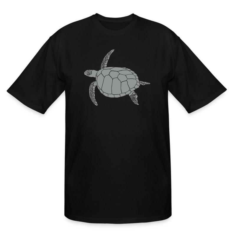 animal t-shirt sea turtle scuba diving diver marine endangered species - Men's Tall T-Shirt